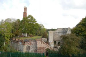 Remains of the surface buildings of a 19th Century coal mine
