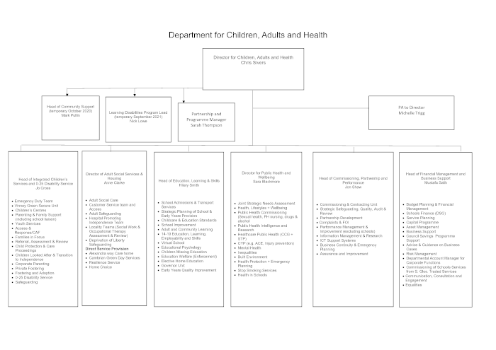 CAH Department - functional structure