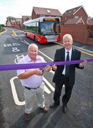The opening of the Cheswick Bus Link