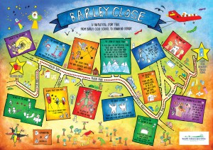 A fantastical map from Barley Close School to Downend Library