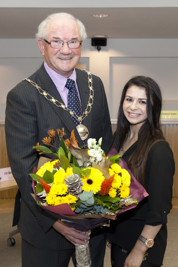 Cllr Howard Gawler pictured with Claudia Fragapane
