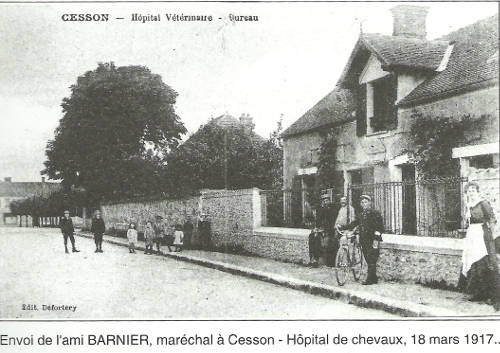 Cesson Horse Hospital - World War One
