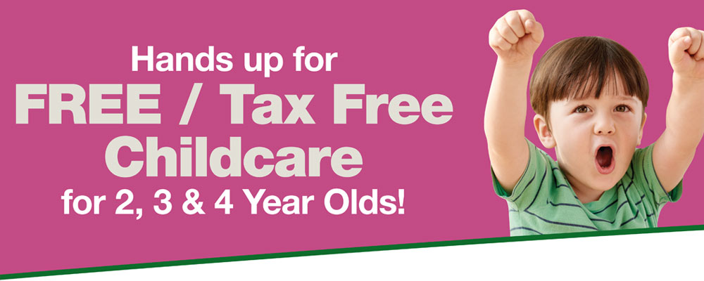 Free childcare for 2, 3 and 4 year olds
