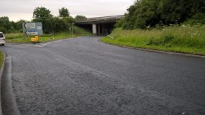 A403 Coast Road looking new and improved after the maintenance project