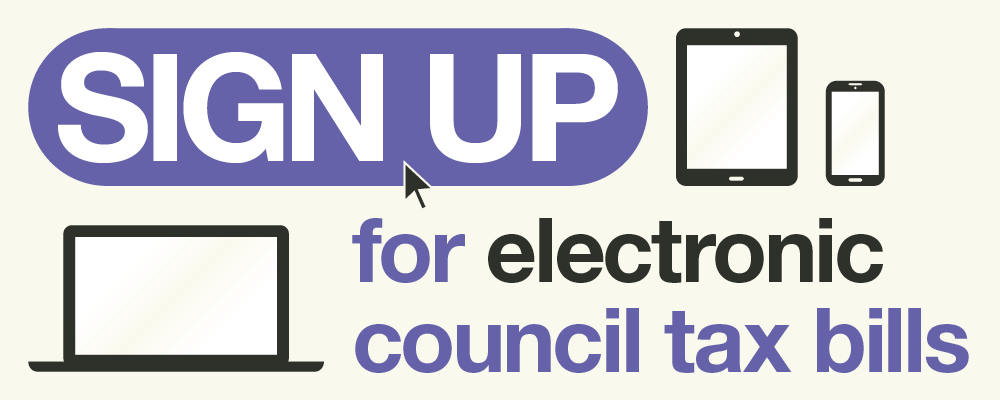 Sign up for electronic council tax bills