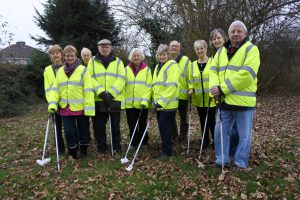 Patchway litter pickers in action ahead of our Spring Clean