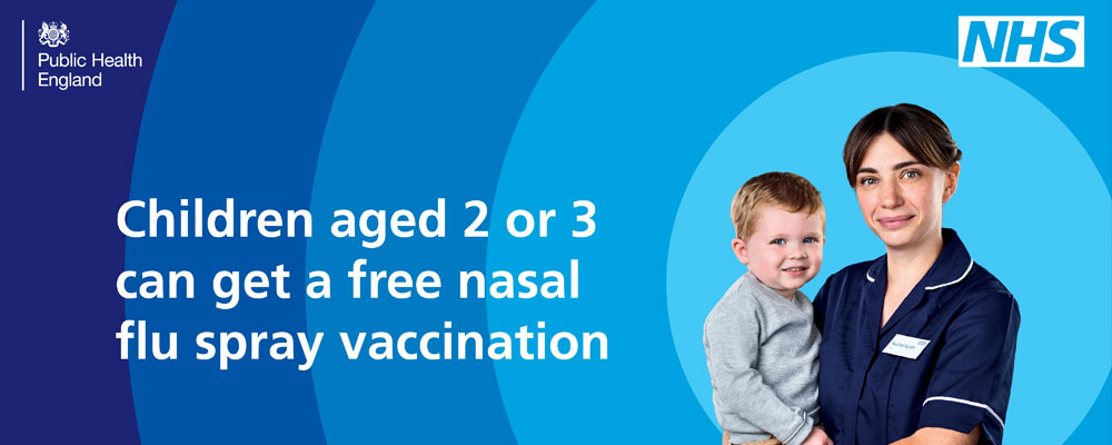 Flu nasal spray for children