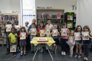 Congratulations to children from the Staple Hill area, pictured at their local library receiving medals and certificates for successfully completing the Summer Reading Challenge.