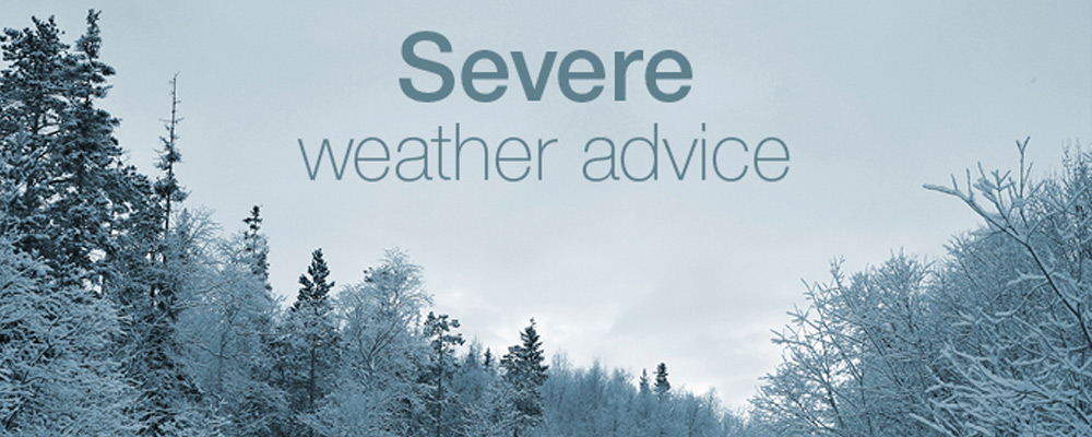 Advice on severe weather