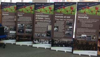 WW1 exhibition banners