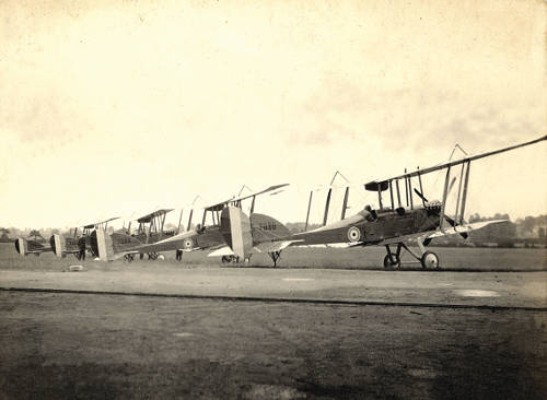 Row of bi planes at Filton